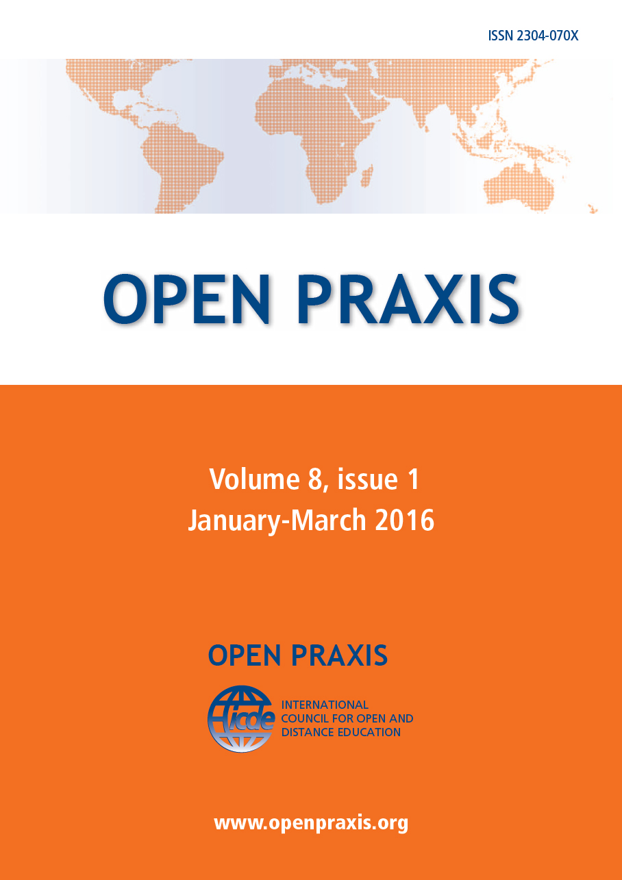 cover Open Praxis vol. 11 issue 3